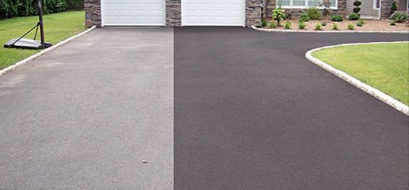 Old driveway seal coat vs new asphalt sealing